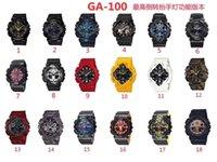 Kaka's home GA-100 Men's Quartz Sports Watch Digital Display World Time High Quality PU Band Electronic watches