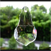 Decorations 50Mm Clear Chandelier Crystals Pendants Prisms Beads Diy Crystal Lamp Accessories Hanging Ornament Suncatcher Home Decorat W4Kb1