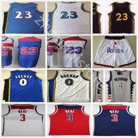 Top Bradley 3 Beal 4 Westbrook jerseys nuevo gris rojo azul blanco # 23 al por mayor barato retro vintage clásico gilbert 0 arenas baloncesto jersey