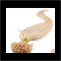 Prebonded 141618202224 italiano Keratin Nail U Punta Fusion Indian Remy Human Hair Extensions 200gr 200ST DPXNQ 4MOQG