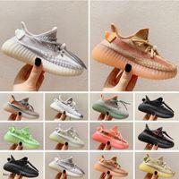 Adidas Kanye West yeezy 350 V2 kid shoes مصممون أطفال أحذية رياضية في الهواء ر المدربين V2 كلاي الأسود الثلاثي الأبيض أنطفلية أنطفلية الأطفال أحذية بنين بنات الجري 26-35
