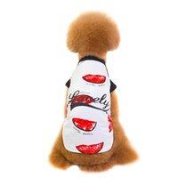 الكلب الملابس 1 قطعة الملونة الملابس الحيوانات الأليفة للمعاطف الصغيرة لطيف القمصان الصيف الجدة الترفيه المطبوعة مخطط سترة معطف