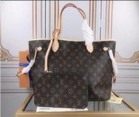 2021 Femmes de luxe designers sacs sacs bandoulière pour femmes sacs à main véritables sacs à sacs à sacs à sacs à sacs de monnaie 2pcs m40156aa