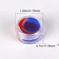 Vaporizer oil non stick silicone container clear 3ml plastic dab wax storage jar shatter glass water pipes acrylic silicon jars DHA6159