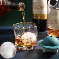 Wiederverwendbare Kühler Silikonriese Eis Kugelhersteller Eising Cube Formen Whisky Cocktail Premium Runde Bälle Kugeln Küchenbart Werkzeug GWF6152