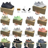Avec boîte Kanye Clay v2 West Static 3M Chaussures de course réfléchissantes 2.0 cendrier Cendrier Perle Noir Carbon rouge Zyon Zebra Sand Taupe Mens Femme Sneakers