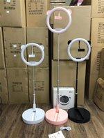 Cell Phone LED Ring Light 10 Inch Selfie Lamp Folding Desktop Photographic Lighting Tripod Clamp Standard