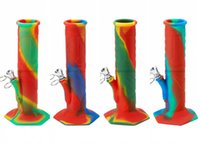 In Stock 2021 New Camo Silicone Recycler Bongs Water Pipes Percolator Oil Rigs Bowl Smoking Beaker Bong Glass Bubler Pipe Hookahs
