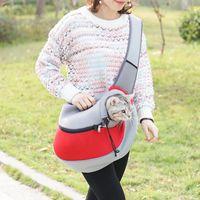 Cat Carriers,Crates & Houses Outdoor Adjustable Durable Oxford Cloth Dog Kitten Pack Zipper Design Pet Carrier Shoulder Messenger Bag Suppli