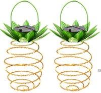 인공 식물 태양 정원 조명 파인애플 모양 태양 매달려 빛 방수 벽 램프 요정 야간 조명 철 와이어 아트 홈 HWE8119