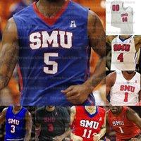 Custom SMU Mustangs Basketball-Trikots Tyson Jolly Isiaha Mike Feron Hunt Ethan Chargois Emmanuel Bandoumel