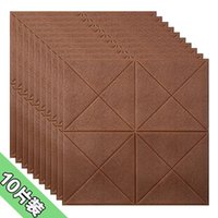 Wallpapers Wallpaper Self-adhesive 3d Stereo Wall Stickers Wood Grain Anti-collision Foam Waterproof Soft Bag Stickers-2