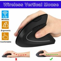 Ergonomic Vertical Mice with LED RGB Light 2. 4G Wireless Rig...