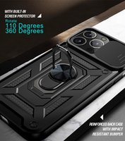shockproof armor case for apple iphone 13 pro max mini 2021 iphone13 car magnetic holder ring push pull camera protection covers
