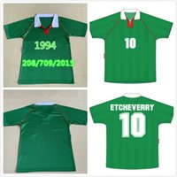 1994 National Team Retro Bolivia 축구 유니폼 클래식 10 Etcheverry 홈 그린 94 Manches Courtes Cru 빈티지 사용자 정의 축구 키트