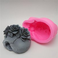3D tools rose skull silicone mold fondant cake resin plaster chocolate candle candy T200524