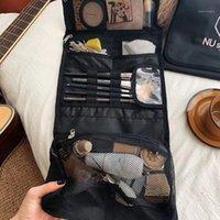 Faltende Reise Tragbare Waschbeutel Wasserdichte Kosmetische Geldbörse Aufbewahrungstasche Damen Make-up-Kasten Große Kapazität Make-up-Taschen Weibliche 1