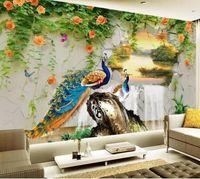 Wallpapers Custom Po Wallpaper 3D Stereo Snow Mountain Lake Scenery TV Backdrop Bedroom Wall Paper