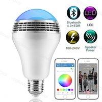 LED-Birnen RGB Wireless 4.0 Bluetooth Audio-Lautsprecher-Musik-Player Dimm-Party-Licht mit App-Fernbedienung DHL