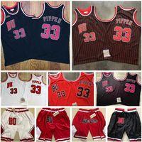 Homens costurados jerseys de basquete Chicago33 Scottie Pippen Mitchell Ness 1997-98 Hardwoods Classics Retro Finais Jersey e apenas Don Shorts