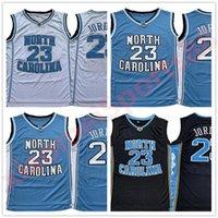 Hommes NCAA North Carolina Tar Guis 23 Michael Jersey Unc College Basketball Jerseys Blanc Blanc Blanc