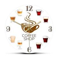Coffee Shop, Kitchen, Wall Clock, Logo, Bar Decoration Creative Clock Home Decor Clocks