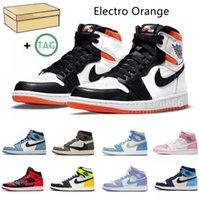 Electro Orange 1 1S Университет Синий Баскетбол Обувь Shadow Hyper Royal Thema Mocha Smoke Серый Ретро Чикаго Выросший Серебряный ДОЕЙ Корт Фиолетовый Спортивные кроссовки 36-45