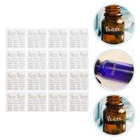 Bouteilles de stockage pots 18 feuilles élégantes étiquettes de lettre cosmétique étiquettes essentielles autocollants d'huile