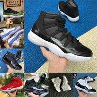 Air Jordan 11 retro jordans Nike 2021 Vente NOUVEAU BRED 11S 11 HOMMES Femmes Chaussures de basketball Cool Gris Concord 45 Platine Tint