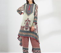 Dresses Famous Designer autumn winter new style Bohemian long-sleeved semi-cardigan printed mid-length dress Female clothing clothes VOGUE