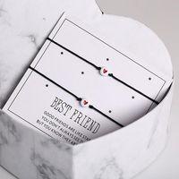 Charm Bracelets 2pcs Charming Heart Bracelet For Women Friend Matching Bff Friendship Jewelry Gift