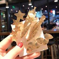 Clip per capelli Barrettes Moda metallo foglie di metallo Hairclip per le donne accessori geometrici per forcella vintage lxh