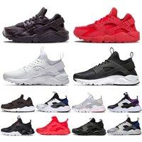 Nike Air Huarache Erkek Bayan Koşu Ayakkabıları Huaraches Hurla Üçlü Siyah Beyaz Tüm Kırmızı Erkek Kadın Spor Sneakers Eğitmenler Boyutu 36-45