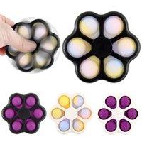 Новый!!! Новинка FIDGET TOYS 5 сторон Стресс рельефные пальцы сенсорные игрушки Flip Spinner Bubble Toy для взрослых детей забавный день рождения подарки DHL доставки