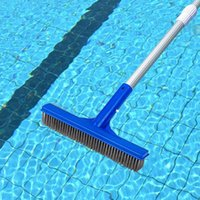 Pool & Accessories Stainless Steel Swimming Brush Lightweight Dust Cleaner Broom Cleaning Tool Spring Spa