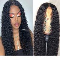 Real Remy Human Cheveux Perruques Blanchies Nœuds Water Water Waoue sans glutage Vierge non traitée Brésilienne Remy Cheveux Full Dentelle Avant Perruque avant cueillie