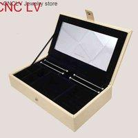Cajas de exhibición de la joyería de cuero de la PU de primera calidad para Pandora Charm Beads Colgantes Pulsera de plata Collar de embalaje Caja de embalaje Regalo