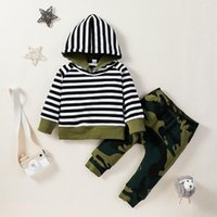 Clothing Sets Toddler Boys Set Long Sleeve Striped Hoodie + Pants Suits For Kids Casual