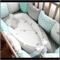 Cribs Nursery Bedding Baby, Kids & Maternity80*50Cm Nest Portable Crib Travel Infant Toddler Cotton Cradle For Born Baby Bassinet Bed Drop De