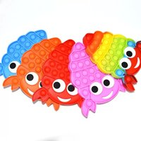 Bubble Fidget игрушки Rainbow Hermit Crab настольные головоломки силиконовые декомпрессионные игрушки аутизм реабилитация тренировок