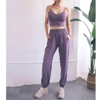 Men's Tracksuits Women Sportswear Solid Loose Sports Pants Bra Yoga Set Casual Fitness Gym Workout Run Jogging Clothes XXL Sport Suits Femal