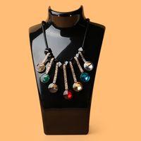 Caja de exhibición de la exhibición de la joyería de moda Caja de almacenamiento acrílico Maniquí Soporte de la joyería para el pendiente Collar colgante Muñeca del soporte 653 Q2
