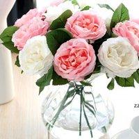 Künstliche Pfingstrose Blumenstrauß Blumen Nacht Rose Peonysimulation Blume Kleine Blumensträuße Floral Home Party Hochzeit Dekoration HWE8211