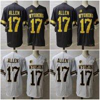 NCAA Wyoming Cowboys # 17 Josh Allen Braun Weiß Jersey Kaffee Günstige Hochschule Football Stitzehd Kein Name Männer Jugend Kind Frauen Erwachsene S-3XL