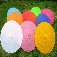 الصينية النسيج الملونة مظلة الأبيض الوردي المظلات الصين الرقص التقليدي اللون البارسول الدعائم الحرير اليابانية JJA262