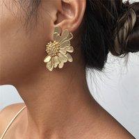 Zinc Alloy Stud Earrings Women's Earring Flowers Jewelry Ear ring E8418