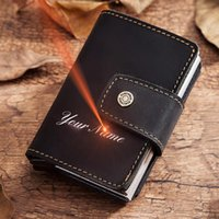 Card Holders RFID Anti-theft 2021 Alumina Holder Smart Automatic -up Business Bank Case Mini High Quality Man Coin Purse