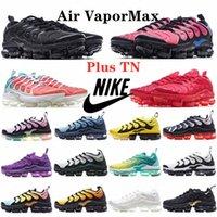 TN Artı Erkek Koşu fly knit air cushion 2018 2019 vapormax Ayakkabıları Pembe Deniz Üçlü Beyaz Siyah Kadın Gerilim Mor Limon Kireç Bumblebee Gerçek Antrenörler Spor Sneakers Olun