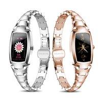 Smart Watch Women Fashion Women Women's Relógios Coração Monitoramento Lembrete Lembrete Fitness Bracelete H8 Pro para Android iPhone Pressão do monitor