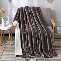 Blankets Winter Wool Blanket French Velvet Cashmere Warm Fleece Super Soft Throw On Sofa Bed Cover Square